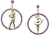 Francesca Villa 18 ct Rose Gold Joie De Vivre Rubies and Pink Gold Earrings