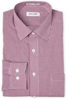 Pierre Cardin Burgundy Regular Fit Check Dress Shirt