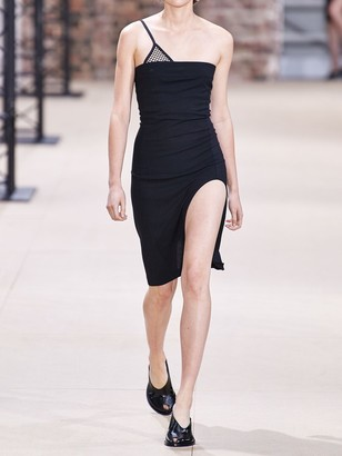 Ann Demeulemeester Strapless Stretch Wool Crepe Dress