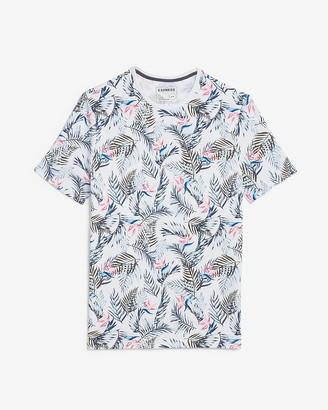 Express Tropical Print Perfomance T-Shirt