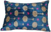 Orientalist Home Mavinaz 16x24 Ikat Pillow - Blue