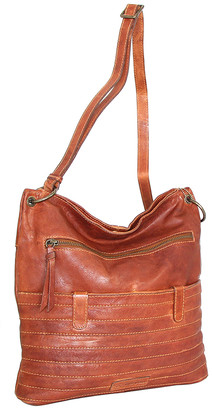 Nino Bossi Handbags Women's Handbags Cognac - Cognac Nieve Leather Crossbody Bag