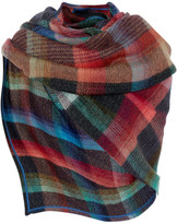 Missoni Checked Mohair-blend Wrap - Black