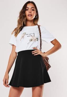 Missguided Petite Black Basic Skater Mini Skirt