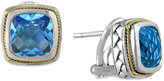 Effy BALISSIMA by Blue Topaz (5-3/8 ct. t.w.) Omega Earrings in 18k Gold and Sterling Silver
