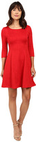 Taylor Knit Jacquard Fit and Flare Dress