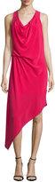 Haute Hippie Sleeveless Asymmetric Hem Dress, Raspberry