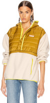 Mother Sher-Puff Zip Pullover in Beyond The Summit   FWRD