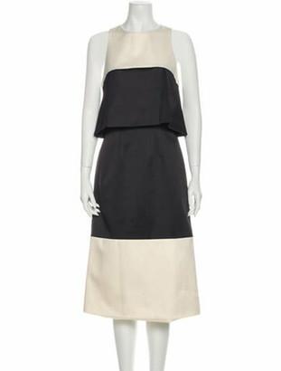 Alexis Two Toned Midi Length Dress w/ Tags Black