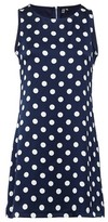Dorothy Perkins Womens Izabel London Navy Polka Dot Print Shift Dress, Navy
