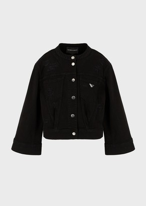 Emporio Armani Vintage-Look, Bull-Denim Jacket