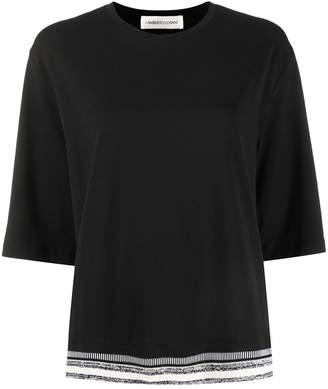 Lamberto Losani striped hem relaxed-fit T-shirt