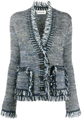 Lanvin fringed trim V-neck cardigan