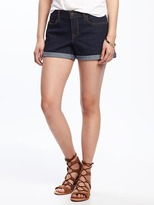 "Old Navy Cuffed Denim Shorts for Women (3"")"