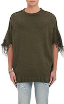 R 13 Men's Distressed Cotton-Blend Oversized Sweater