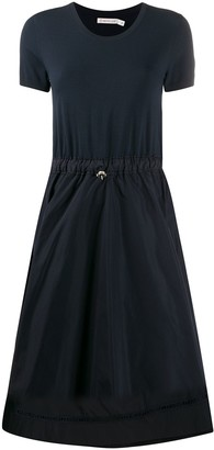 Moncler Flared Gathered Waist Dress
