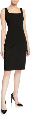 Elie Tahari Lowell Square-Neck Ponte Sheath Dress