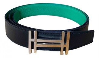 Hermã ̈S HermAs H Green Leather Belts