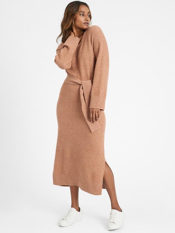 Banana Republic Petite Flare-Sleeve Sweater Dress