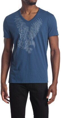 John Varvatos Eagle Graphic V-Neck Shirt