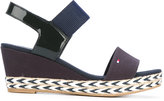 Tommy Hilfiger wedge sandals - women - Cotton/Patent Leather/Tactel/rubber - 37