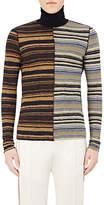 Maison Margiela Men's Inside-Out Wool Mock-Turtleneck Sweater