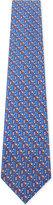 Salvatore Ferragamo Blue Formal Phone Box & Santa Print Silk Tie