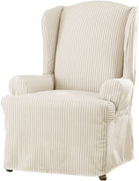 Sure Fit Ticking Stripe 1-pc. Wing Chair Slipcover