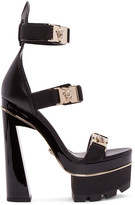 Versace Black Medusa Platform Heels