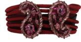 Lanvin Paisley Stone Rope Belt