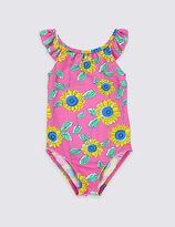 Marks and Spencer Floral Print Swimsuit with Lycra® Xtra LifeTM (0-5 Years)