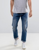 Esprit Straight Fit Jeans In Mid Wash Denim