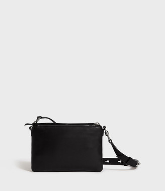 AllSaints Captain Leather Zip Crossbody Bag