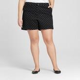 """Merona Women's Plus Size 5"""" Chino Short Geo Print"""