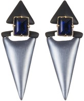 Alexis Bittar Lucite Dangling Geo Clip-On Earrings