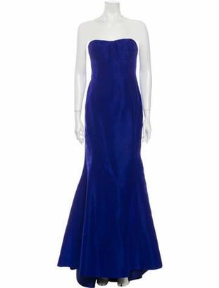 Oscar de la Renta 2017 Long Dress Blue