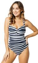 Nip Tuck Block Stripe E Cup One Piece