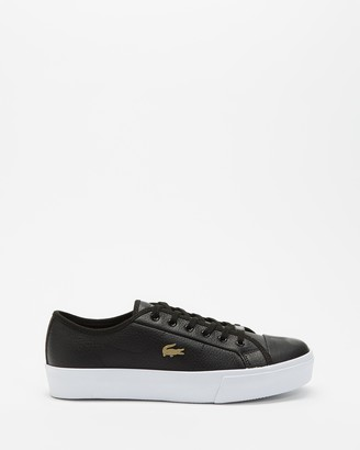 Lacoste Women's Black Low-Tops - Ziane Plus Grand Leather Sneaker - Women's - Size 4 at The Iconic