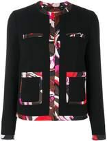 Emilio Pucci contrast-trim tailored blazer