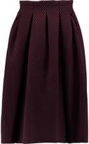 Maje Pleated laser-cut neoprene skirt