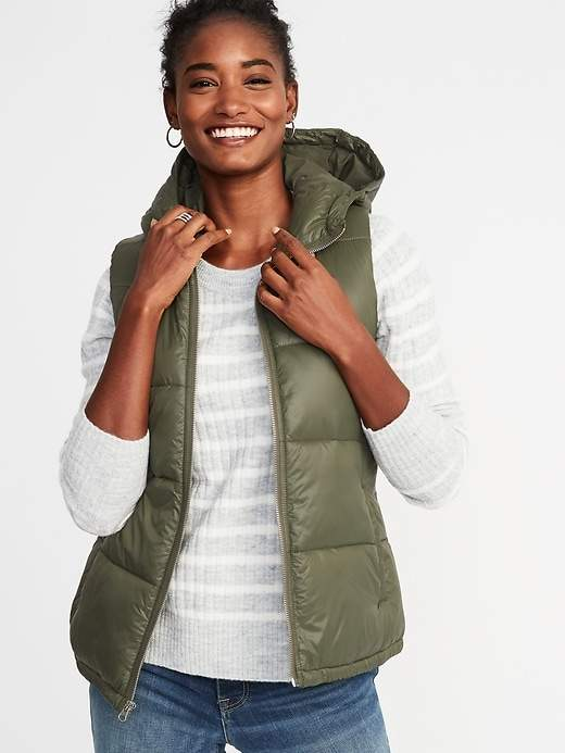 Frost-Free Hooded Nylon Vest for Women