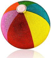 Judith Leiber Couture Beach Ball Sphere Crystal Clutch Bag, Multi