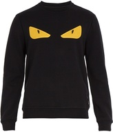Fendi Bag Bugs-appliqué cotton-jersey sweatshirt
