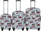 ICE CANADA 3-Piece - Large, Medium and Carry On Suitcase with Wheels, Lock, and Telescopic Handle (LONDON II)