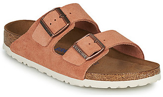 Birkenstock ARIZONA SFB LEATHER women's Mules / Casual Shoes in Orange