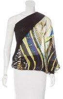 Roberto Cavalli Silk One-Shoulder Tunic