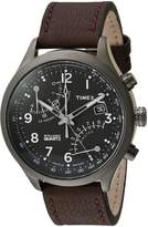 Timex Men's TWH3Z6110 Intelligent Quartz Fly-Back Chronograph Brown Leather Strap Watch