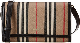 Burberry Icon Stripe E-Canvas Crossbody