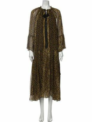 Ulla Johnson Silk Long Dress Yellow