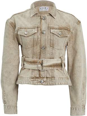 Proenza Schouler Pswl Rigid Denim Belted Jacket